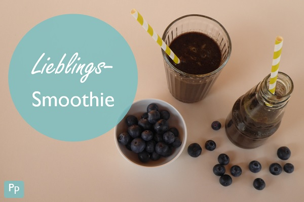 Lieblings-Smoothie mit Heidelbeeren