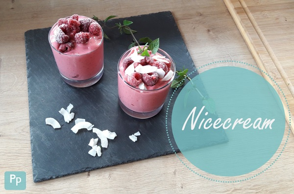 Nicecream mit Himbeeren